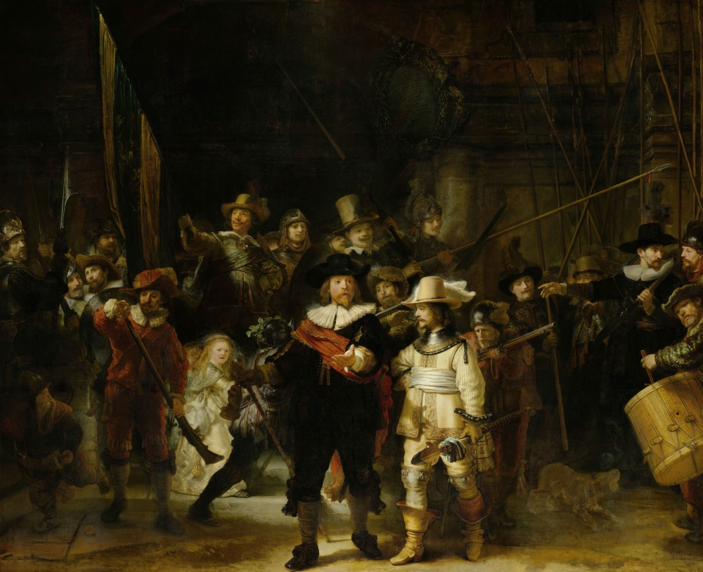Патрульные, версия Рембрандта, XVII век