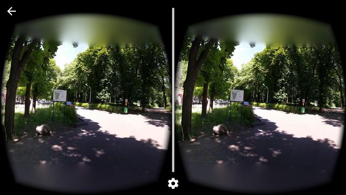 Образец фотопанорамы 360° , снятого на камеру Samsung Galaxy S7 Edge при помощи приложения Cardboard Camera