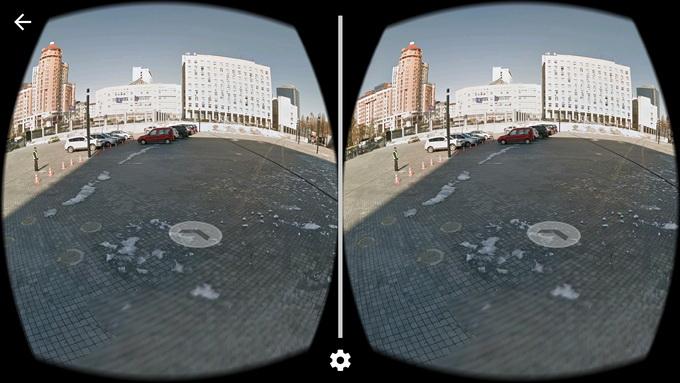 Приложение Google Street View : для нажатия на стрелку перехода к следующему кадру придется дополнительно приобрести джойстик