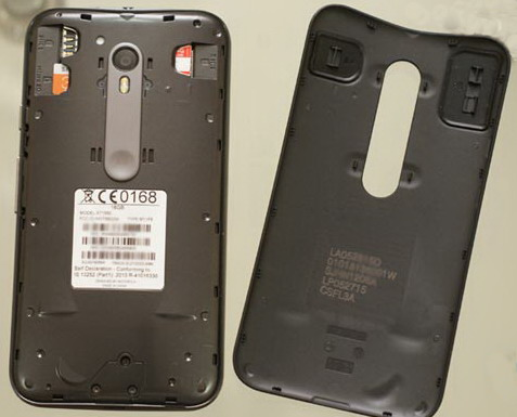 Задняя панель содержит специальные заглушки напротив разъемов для установки SIM-карт и SD-карт, которые должны предотвратить попадание влаги в устройство, даже если немного воды затечет под крышку