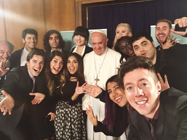 Selfie YouTube + Pope Francis