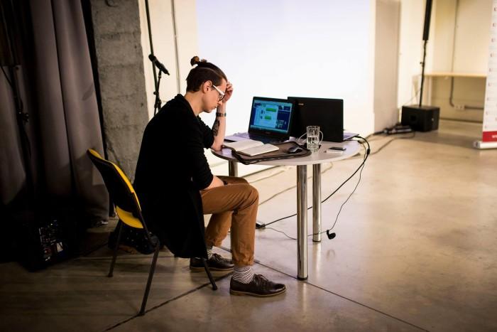 Лукьян Галкин готовится прочитать лекцию