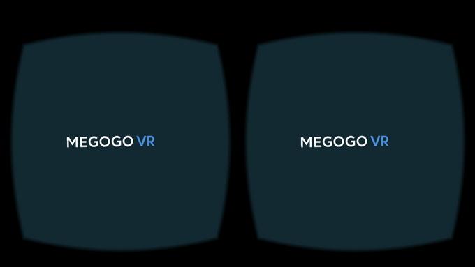 На противоположной стороне от виртуального экрана вы увидите логотип MEGOGO VR