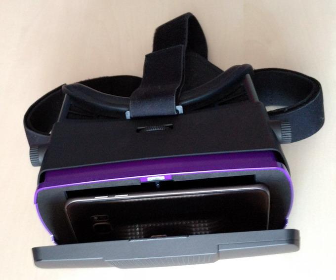 Пластмассовый шлем с более качественной оптикой, диоптрической настройкой и несколькими ремешками для крепления на голове