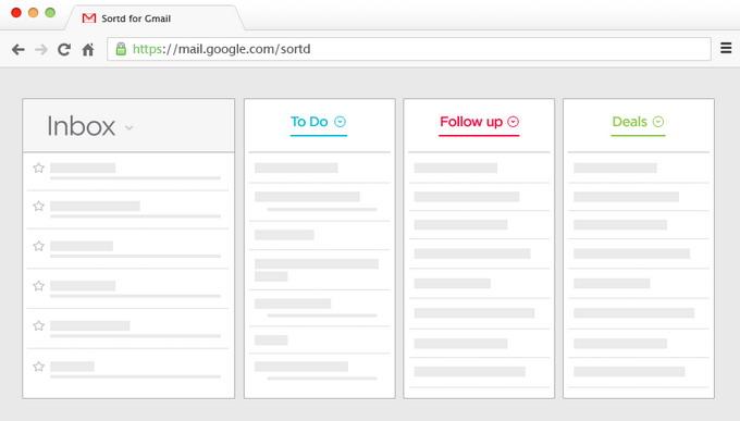 Смарт-скин Sortd для Gmail