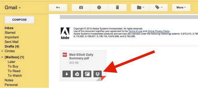 Dropbox для Gmail
