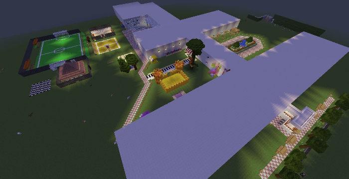 Загальний вигляд Minecraft-подвір'я ліцею