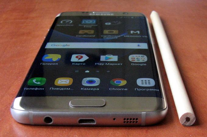 Дизайн Galaxy S7 Edge: с одной стороны, стильный и оригинальный, с другой – боковые грани здесь чувствительны к прикосновению, что причиняет дискомфорт в пользовании