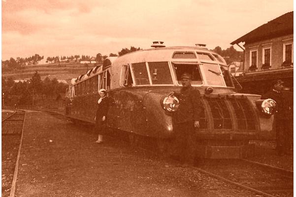 Вузлова станція Хабувка в карпатському передгір'ї. 1936-38 рр.