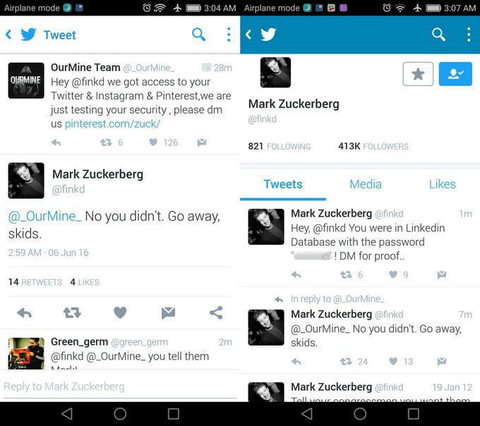 Хакеры взломали один из старых аккаунтов Марка Цукерберга в Twitter