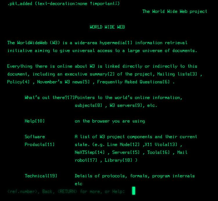 Так виглядав перший у світі сайт