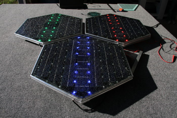 The SR3, the latest version of Solar Roadways technology.