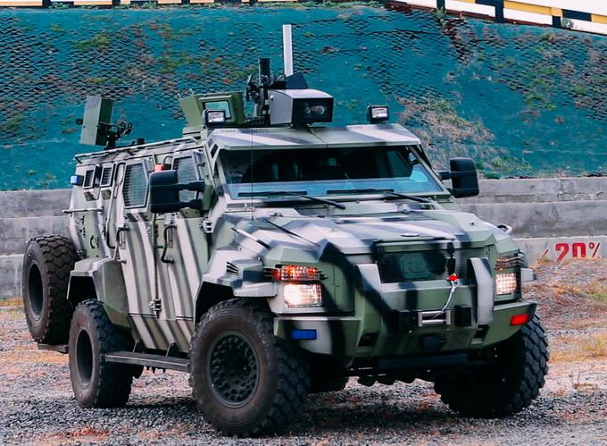 Броньований позашляховик КрАЗ «Спартан», оснащений системою безпілотного керування
