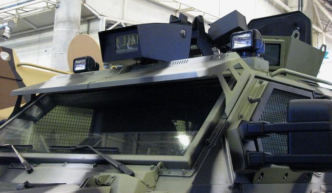 Тепловізор, радар та фронтальна і бокова камери на КрАЗ «Спартан»