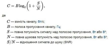 Формула Шеннон, яка визначила напрямок розвитку світу радіозв'язку