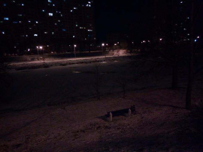 Съемка в ночное время, выполненная камерой Grace R7