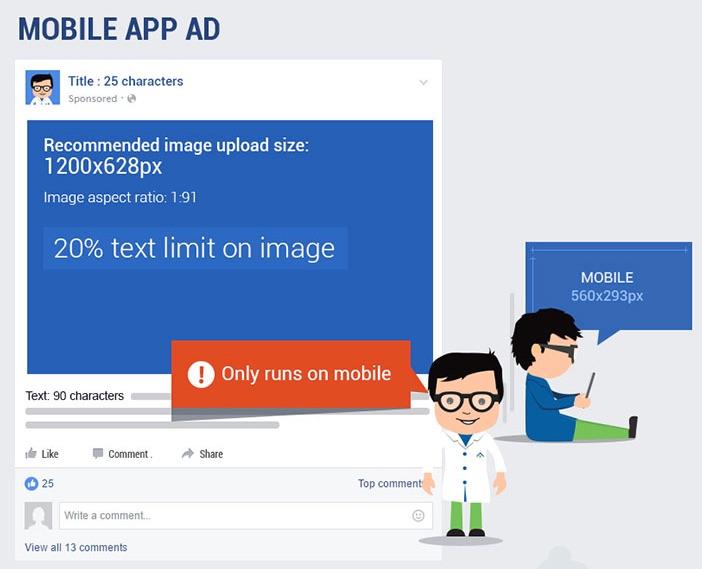 Реклама у мобільному додатку соцмережі