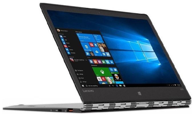 Lenovo Yoga 900S в позиции «стенд». Клавиатура в такой позиции отключается и ультрабук переходит в режим планшета