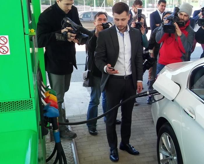 Оплата топлива с помощью смартфона