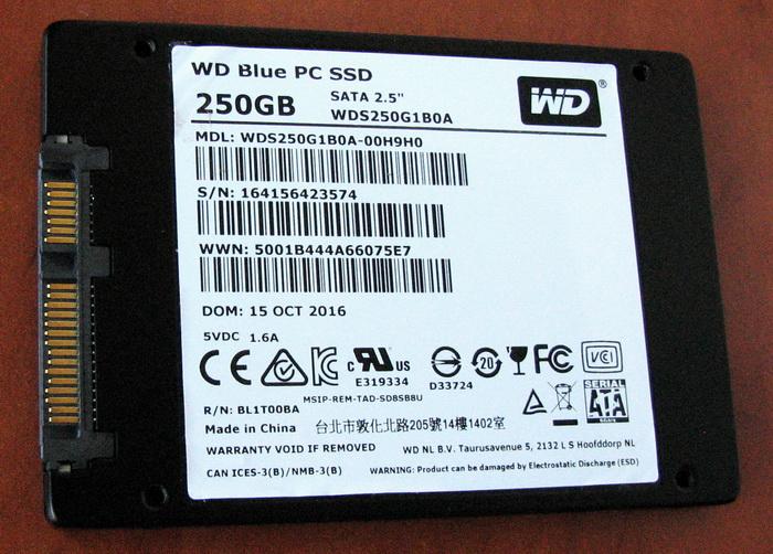 2,5-дюймовый WD Blue с интерфейсом SATA rev 3.0