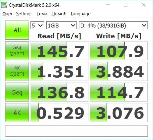 Это особо заметно по результам CrystalDiskMark: разница в производительности иногда превышает два порядка