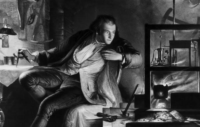Джеймс Уатт (James Watt) работает над усовершенствованием паровой машины
