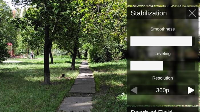 Режим так званої Tango-стабілізації, коли для стабілізації відео використовуються технології Tango, а не оптична стабілізація