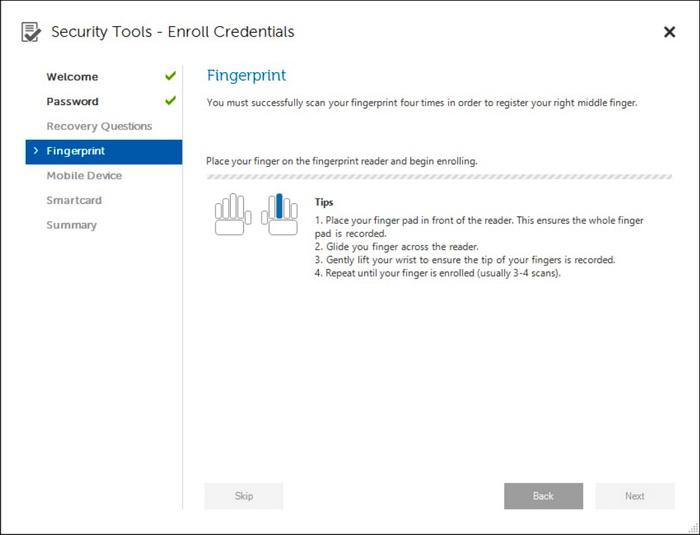 Приложение Security Tools почему-то требует указать, какой именно палец вы сейчас будете сканировать. Аналогичные сенсоры на мобильных гаджетах этого не требуют