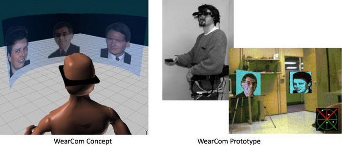 Приложение для MR-конференций для носимых устройств WearCom, 1998 год