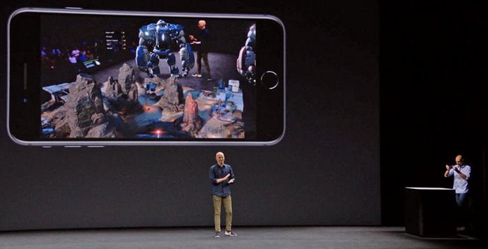 В MR цифрові об'єкти виглядають як частина реального світу, хоча насправді вони існують тільки на екрані смартфону. Скріншот/Apple