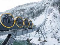 В Швейцарії запустили фунікулер, що возить лижників під рекордним кутом