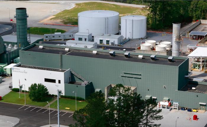 Це енергосховище потужністю 110 МВт на базі стисненого повітря працює в Макінтош, штат Алабама, з 1991 року