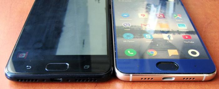 Asus Zenfone 4 Max та Xiaomi Mi Note 3 містять по центру під дисплеєм біометричний сканер, який також виконує роль кнопки Home