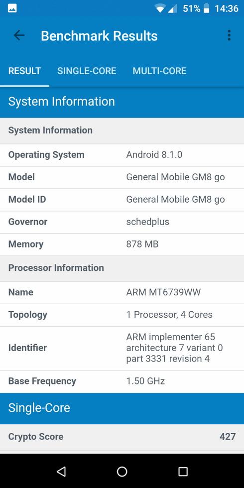 Одна з переваг General Mobile GM8 Go – наявність операційної системи Android 8.1 Oreo