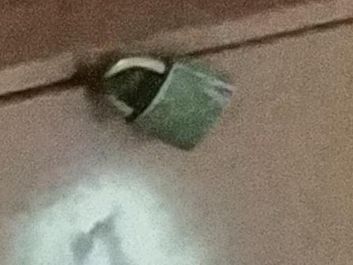 Кроп знімка, зробленого на нічну камеру в умовах недостатнього освітлення. Помітно, що цей другий знімок містить трохи менше «шумів»