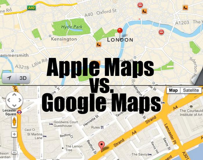 Apple Maps или Google Maps: какой навигатор быстрее до Киева доведет?