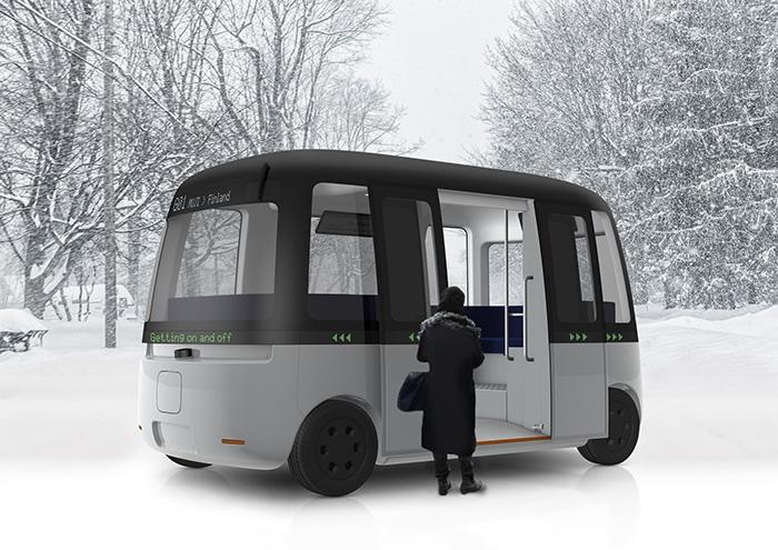 Gacha — безпілотний електробус в суворому фінському кліматі