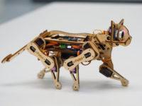Nybble — дерев'яний робокіт з відкритим вихідним кодом. Відео