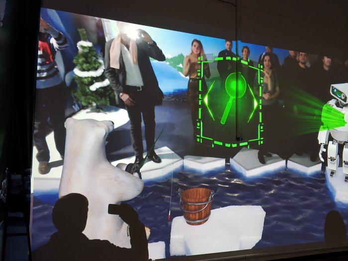 Візуальний ефект, ніби відвідувачі стоять на льодяній кризі