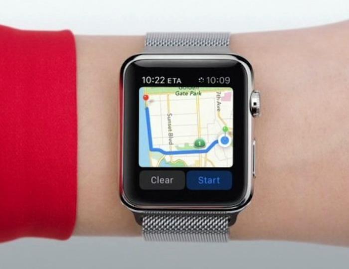 Завдяки відносно великому екрану Apple Watch можна використовувати як навігатор