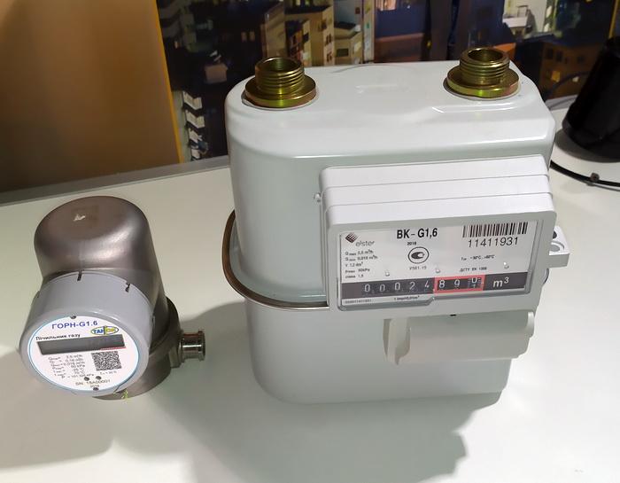 Лічильники газу, що оснащені передавачем даних стандарту LoRaWAN
