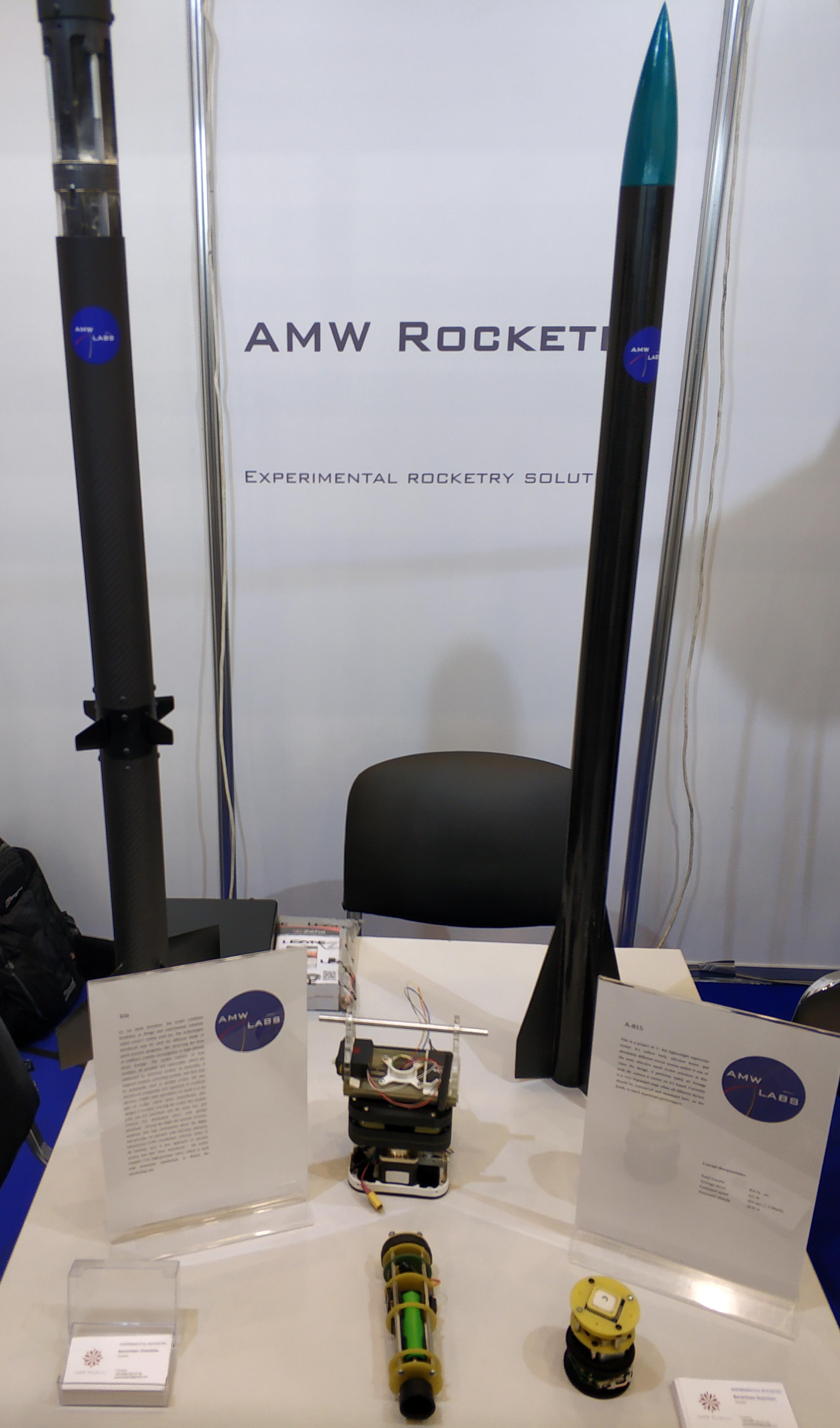 Тестові зразки ракет AMW Rocketry