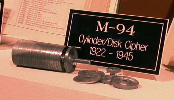 Шифрувальна машина М-94 була створена на базі циліндру Джефферсона