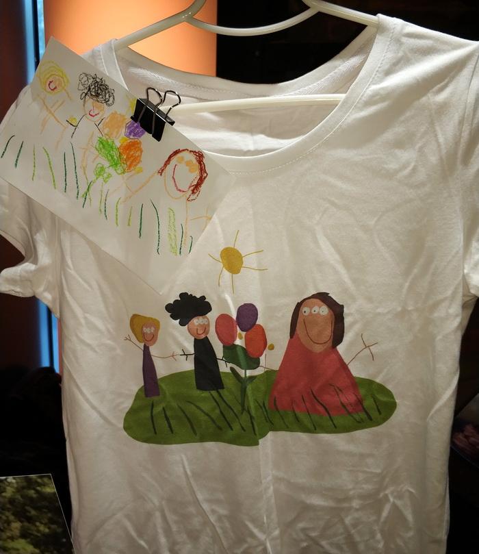 Сервіс Wapa_wapa дозволяє легко та швидко роздрукувати дитячий малюнок на одязі