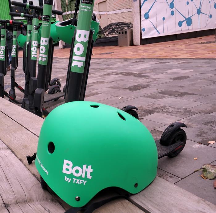 Представники Bolt радять використовувати шоломи для безпечної поїздки