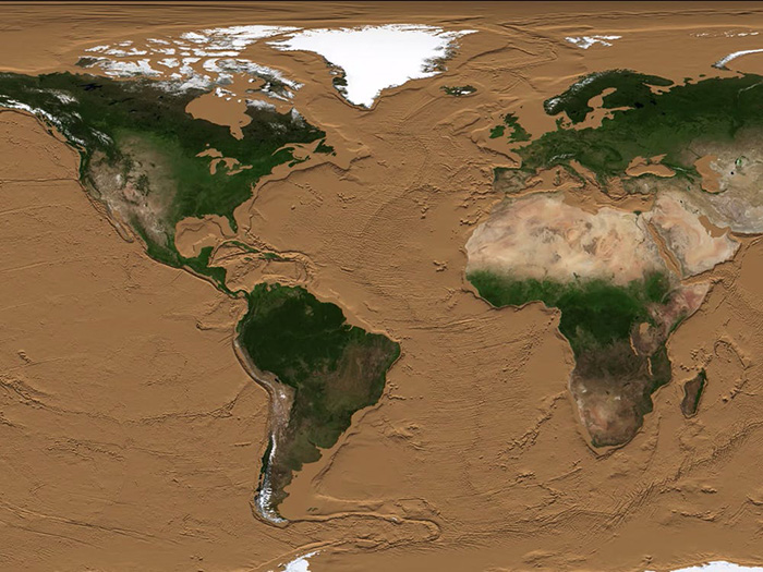 Як буде виглядати Земля без води? Відео