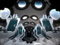 Інтер'єр космічного корабля для комерційних польотів VSS Unity від Virgin Galactic